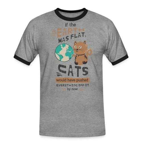 IF THE EARTH WAS FLAT - Kontrast-T-skjorte for menn