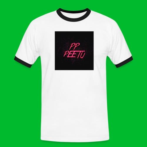 Ppppeetu logo - Miesten kontrastipaita