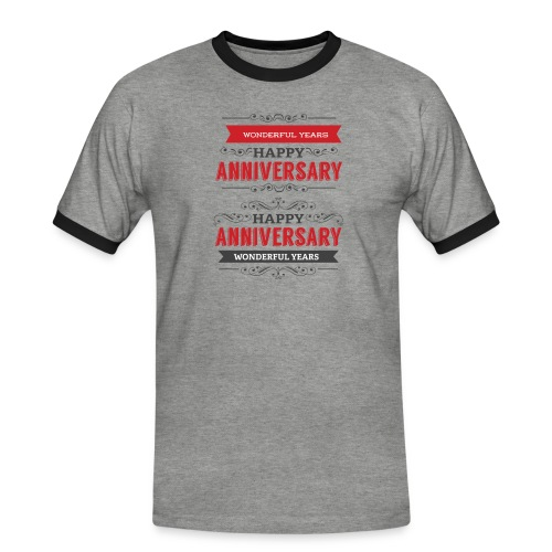 gift happy anniversary,wonderful years - T-shirt contrasté Homme