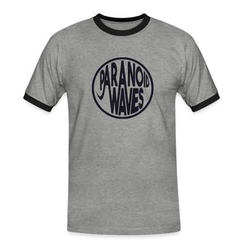 Paranoid Waves - Black - T-shirt contrasté Homme