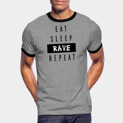 EAT SLEEP RAVE REPEAT - Männer Kontrast-T-Shirt