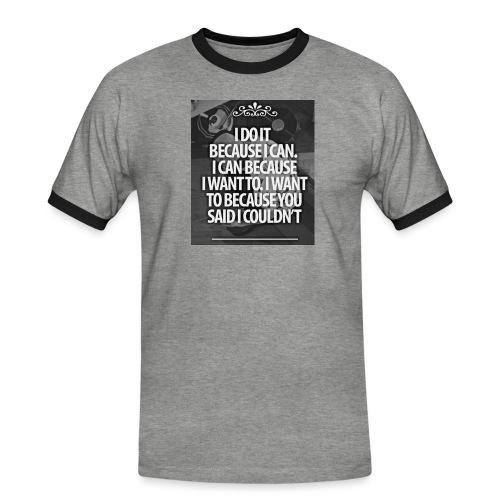 I_DO_IT - Mannen contrastshirt
