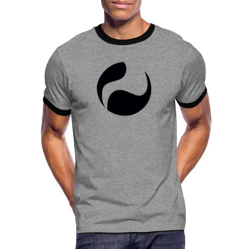 DEEPINSIDE logo ball black - Men's Ringer Shirt
