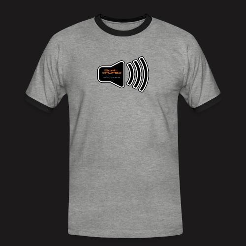 logobig - Männer Kontrast-T-Shirt