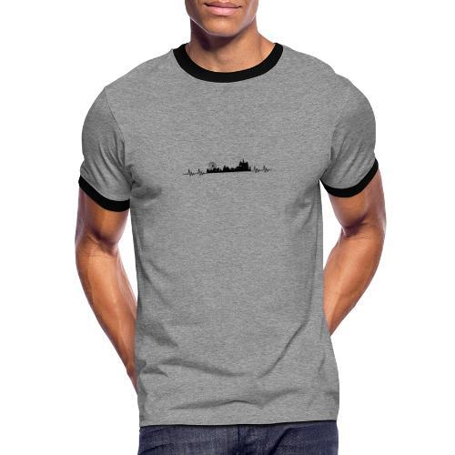 Med hjert de slæ for Kloste! - Herre kontrast-T-shirt