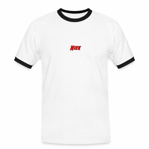 Niek Red - Mannen contrastshirt