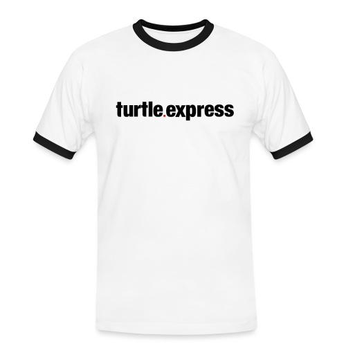TEX Schriftzug - Männer Kontrast-T-Shirt