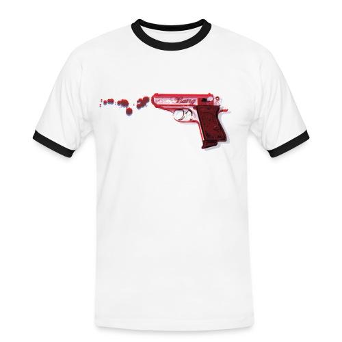 3D GUN 1 - Herre kontrast-T-shirt