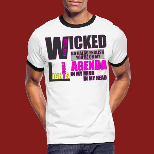 Tobelz Agenda - Männer Kontrast-T-Shirt