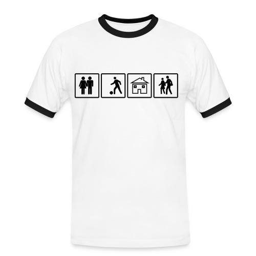CittàStudiMi it Bianco nero - Maglietta Contrast da uomo