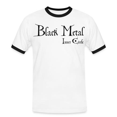 black metal Inner Circle, black ink - Men's Ringer Shirt