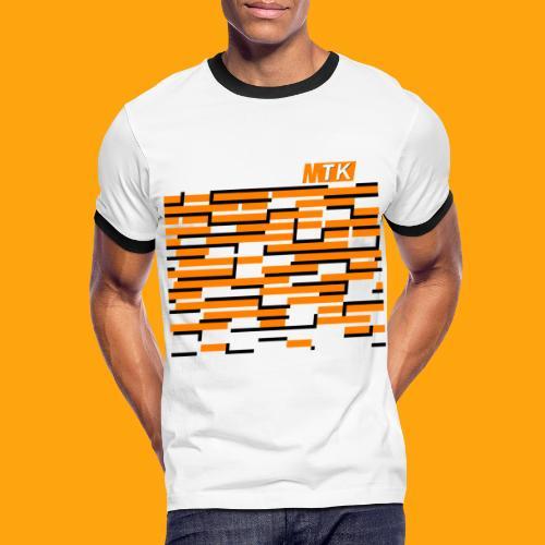 Orange Cubes - Männer Kontrast-T-Shirt