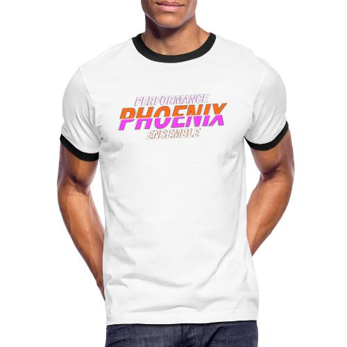 Phoenix Distorted Pink - Männer Kontrast-T-Shirt