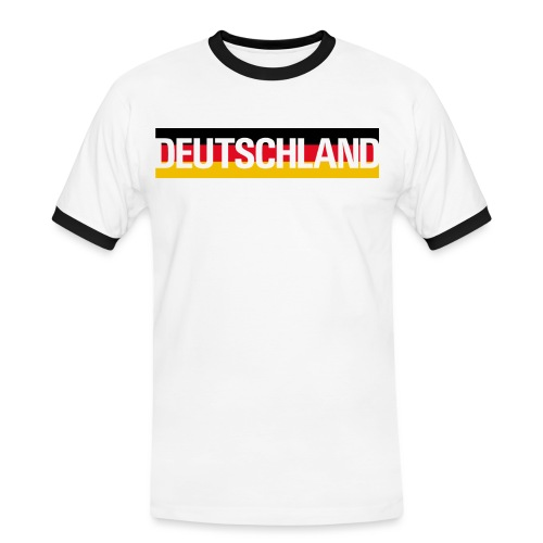 Deutschland - Germany flag - Men's Ringer Shirt