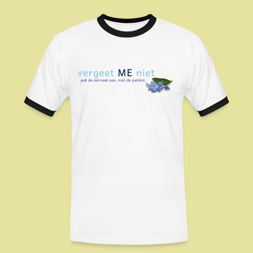 Dames T-shirt wit Vergeet ME niet - Mannen contrastshirt