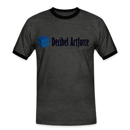 Decibel Artforce Logo (transparent) - Männer Kontrast-T-Shirt