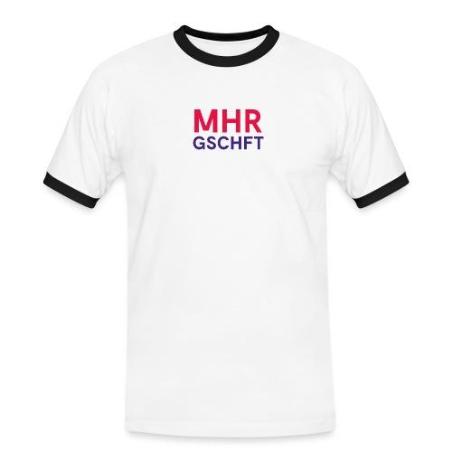 MHR GSCHFT (rot/blau) - Männer Kontrast-T-Shirt