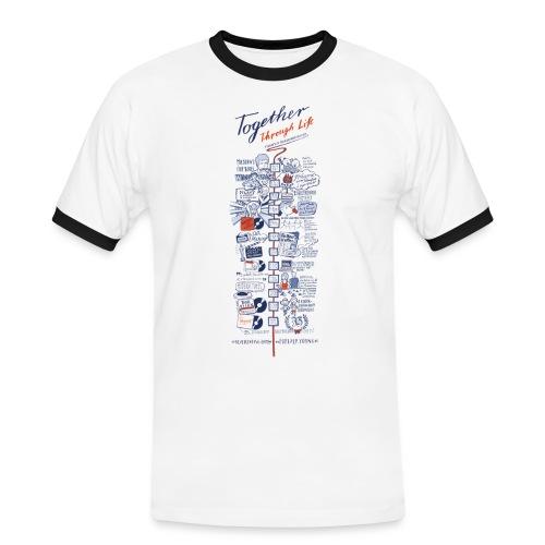Timeline transparent - Männer Kontrast-T-Shirt