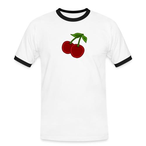 cherry - Koszulka męska z kontrastowymi wstawkami