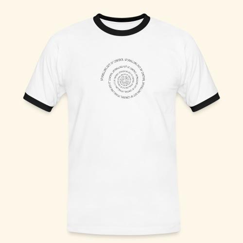SPIRAL TEXT LOGO BLACK IMPRINT - Men's Ringer Shirt