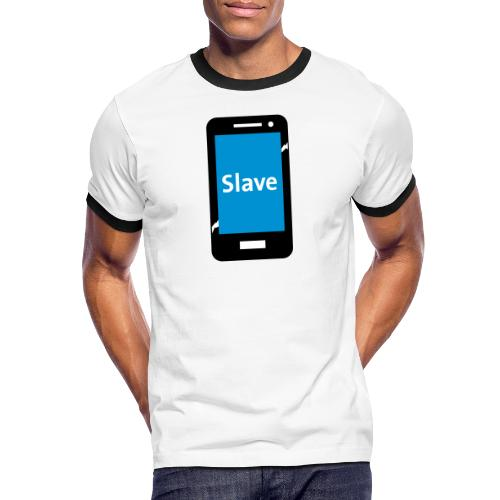 Slave to my phone 1 - Mannen contrastshirt