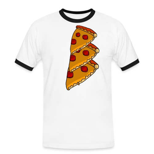 pizza - Herre kontrast-T-shirt