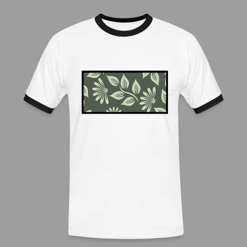 Flowers´n Black - Männer Kontrast-T-Shirt