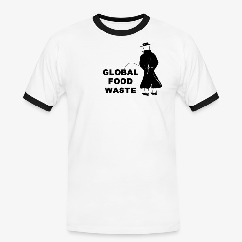 Pissing Man against Global Food Waste - Männer Kontrast-T-Shirt