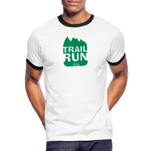 Trail Run - Männer Kontrast-T-Shirt