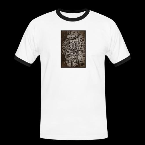 Confused - Koszulka męska z kontrastowymi wstawkami