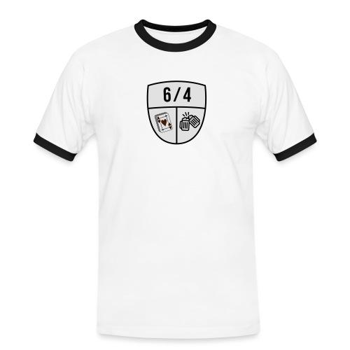6/4 - Mannen contrastshirt
