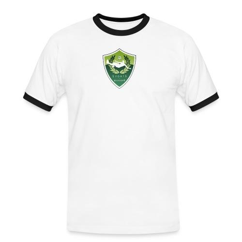 sm logo - Männer Kontrast-T-Shirt