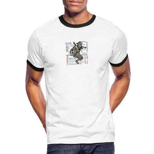 WPNinja Big Flash - Männer Kontrast-T-Shirt