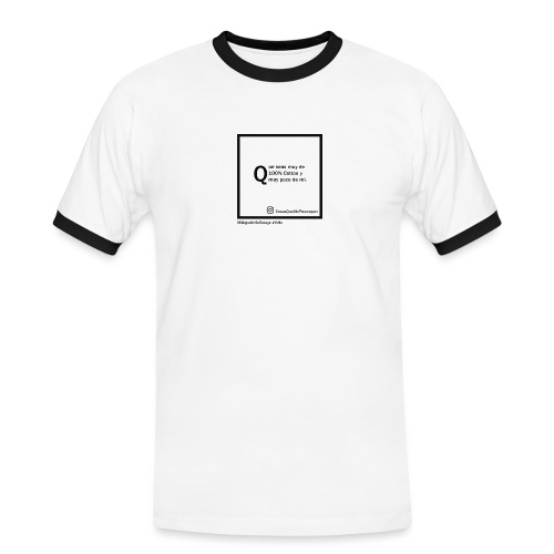 100 cotton - Camiseta contraste hombre