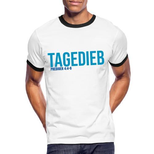 TAGEDIEB - Print in blau - Männer Kontrast-T-Shirt