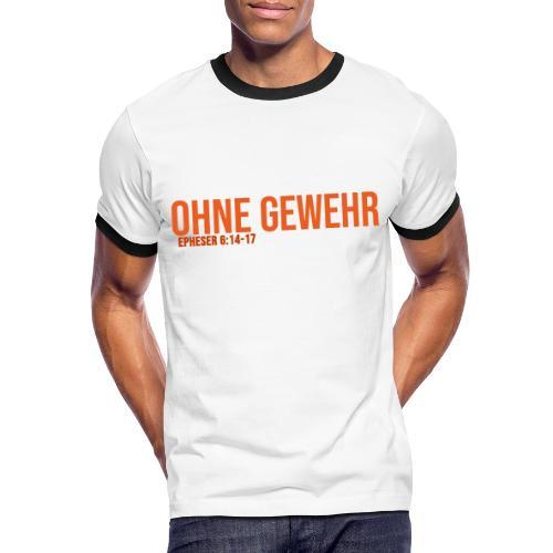 OHNE GEWEHR - Print in orange - Männer Kontrast-T-Shirt