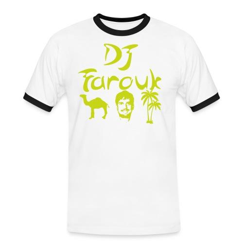 faroukgul png - Kontrast-T-shirt herr