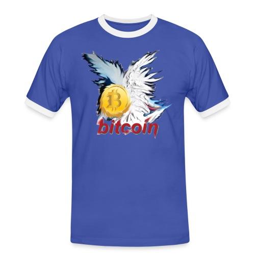 bitcoin t shirt design 8 png - Männer Kontrast-T-Shirt