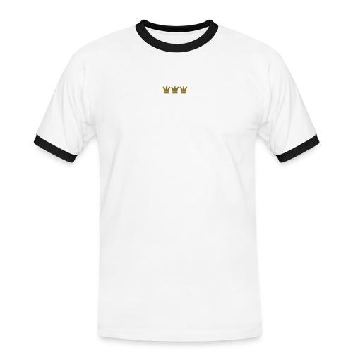 Quadratschnuess (Köln/Kölsch/Karneval) - Männer Kontrast-T-Shirt