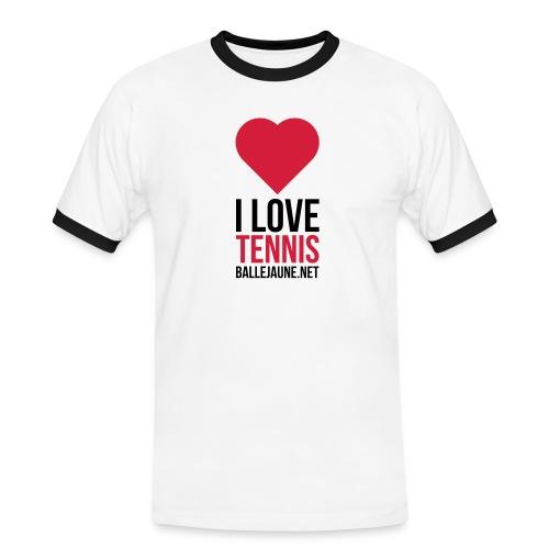 i-love-tennis - T-shirt contrasté Homme
