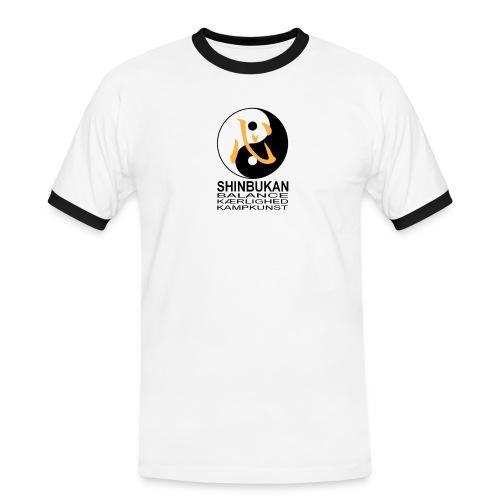 Shinbukan Tai Chi symbol og tegnet Kokoro - Herre kontrast-T-shirt