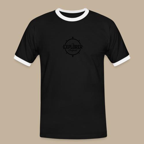 Black TEO Logo - Men's Ringer Shirt