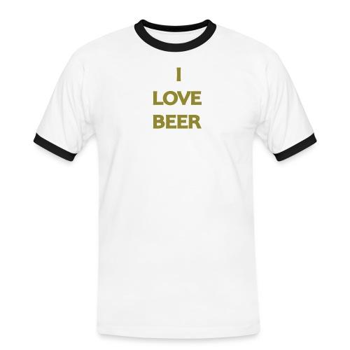 I LOVE BEER - Maglietta Contrast da uomo