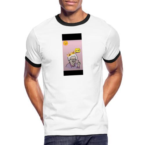 Crazy Grandma - Männer Kontrast-T-Shirt