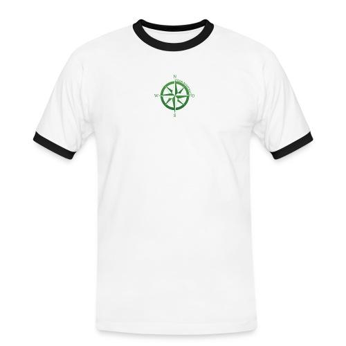 Team Bushcraft Kompass - Männer Kontrast-T-Shirt