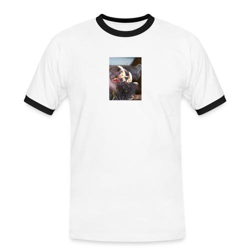 Keiler Kopf , Keiler Haupt, Gebräch, - Männer Kontrast-T-Shirt