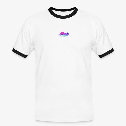 sunset - T-shirt contrasté Homme