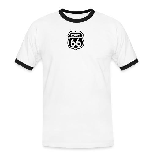 route66streched50t - Männer Kontrast-T-Shirt
