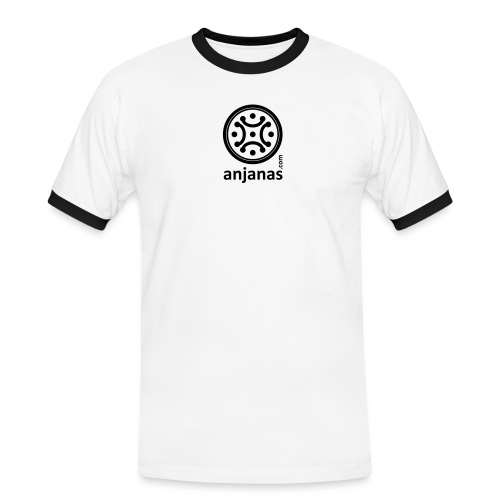 anjanas negro - Camiseta contraste hombre
