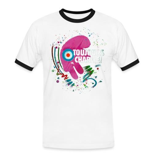 Toujours Charlie interprété par l'artiste C215 - T-shirt contrasté Homme